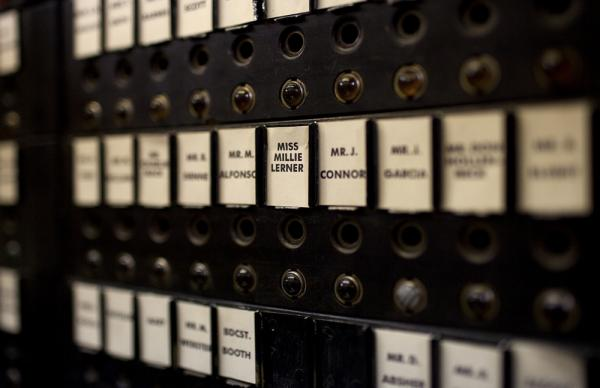 This 1930s-era switchboard was restored for <i>Good Night and Good Luck.</i>