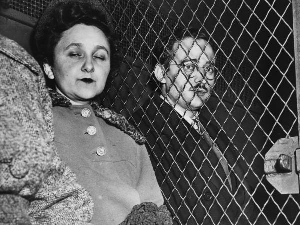 Julius and Ethel Rosenberg are taken to prison after being found guilty of nuclear espionage. They were subsequently executed.