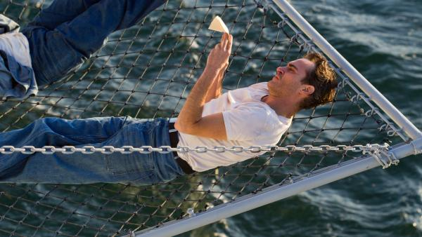 Joaquin Phoenix plays a sailor very much at sea in Paul Thomas Anderson's <em>The Master</em>.