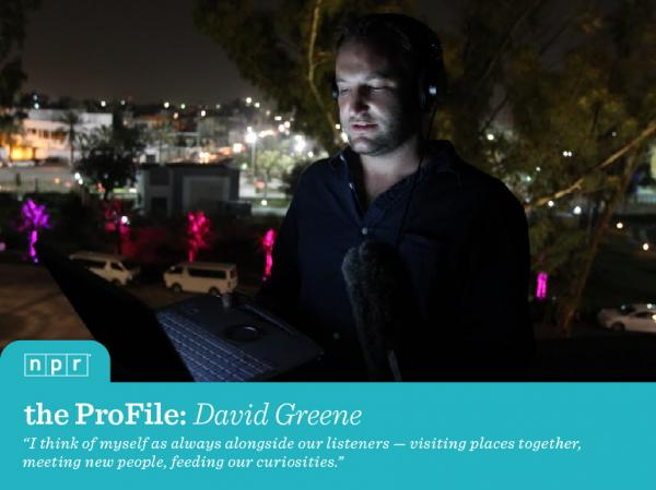 <em>NPR Host and Correspondent David Greene reporting from the roof of a hotel in Tripoli, as NATO bombs were beginning to fall over Libya.</em>