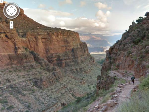A view of the Grand Canyon captured by the Google Trekker