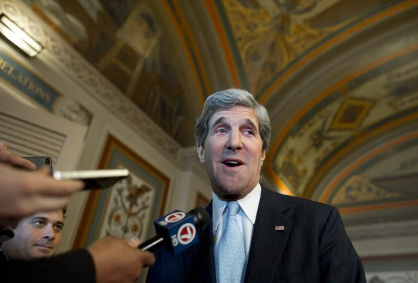 The next Secretary of State John Kerry.