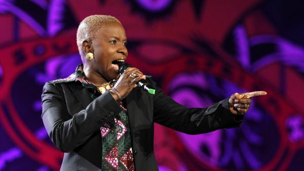 Singer Angelique Kidjo of Benin performs during the opening concert for the soccer World Cup at Orlando stadium in Soweto, South Africa, June 10, 2010.