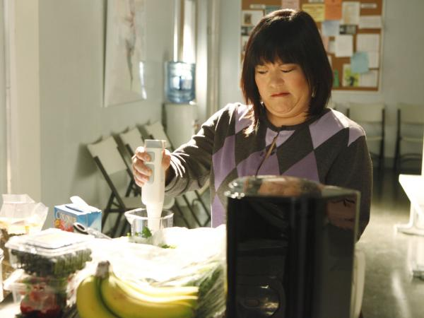 On NBC's <em>Smash,</em> returning for a second season, Harada plays the much-put-upon stage manager Linda, charged with keeping the chaos at the show-within-a-show more or less under control.