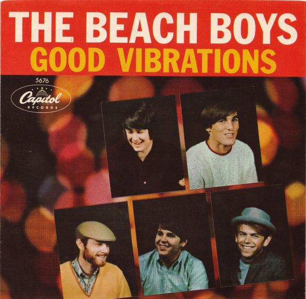 "Cover art for the ""Good Vibrations"" single, released in 1966."
