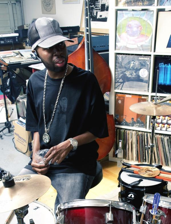 J Dilla in the studio of fellow producer Madlib.