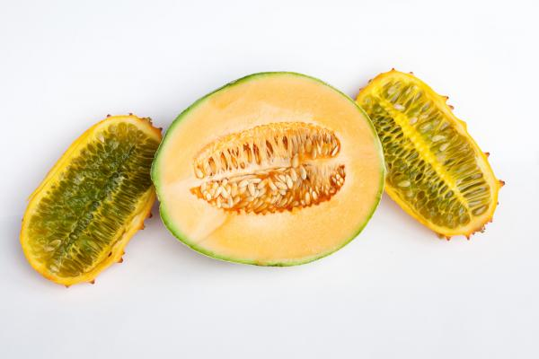 Seeds of fear? To most of us, this cantaloupe and horn melon look like a healthy breakfast or snack.