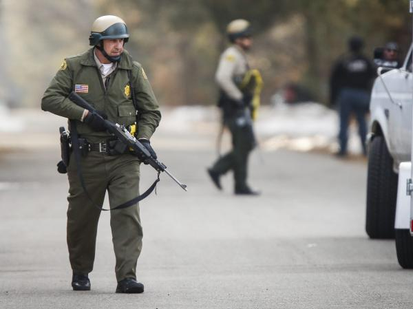 In Big Bear Lake, Calif., officers searched Thursday for suspect Christopher Jordan Dorner.