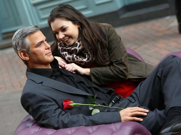 It's an exercise in futility when women attempt to enjoy Valentine's Day with Wax George Clooney.