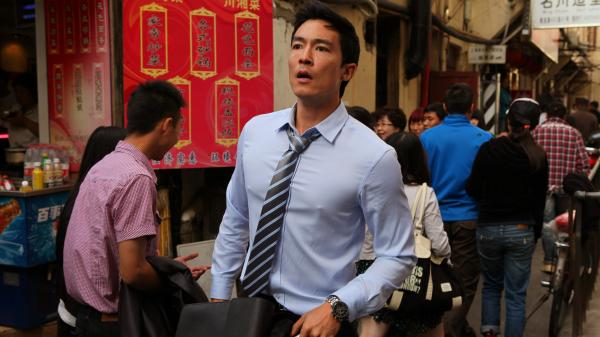 Self-assured lawyer Sam (Daniel Henney) must learn to trust others and embrace life as an expat in the cheery fish-out-of-water film <em>Shanghai Calling</em>.