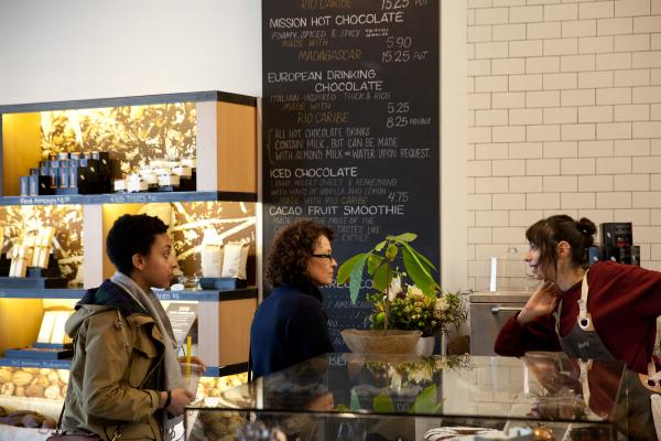 Dandelion Chocolate lures customers into its San Francisco factory with a cafe and store. Co-founder Cameron Ring says most people don't know how chocolate is made, even if they eat it every day.