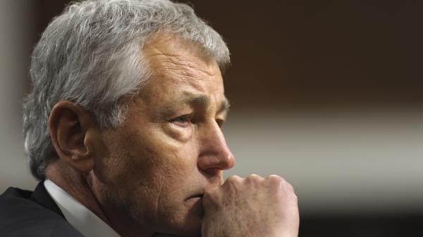 Chuck Hagel, President Obama's nominee for defense secretary, testifies before the Senate Armed Services Committee during his confirmation hearing on Jan. 31.