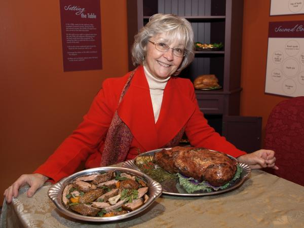 Sandy Levins created stewed duck and roast leg of lamb for Winterthur Museum & Country Estate in Delaware.