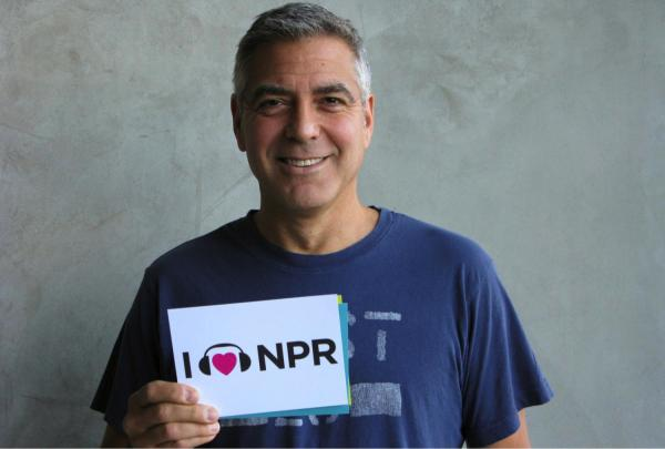 Leading man George Clooney showed NPR some love after his interview last year on <em>All Things Considered</em> where the actor talked about his role in <em>The Descendants</em>. He made this year's Oscar shortlist as a producer on Best Picture contender <em>Argo</em>.