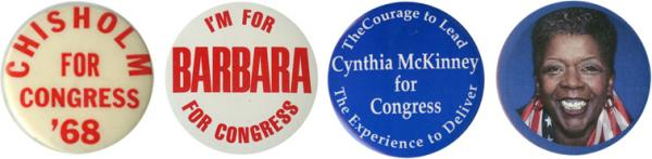 Shirley Chisholm (N.Y.) was the first black woman elected to Congress; Barbara Jordan (Texas) was twice the Dem keynote speaker; Cynthia McKinney (Ga.) was later a Green Party prez nominee; Stephanie Tubbs Jones (Ohio) served as House ethics cmte chair and played a big role in the 2008 Clinton campaign.