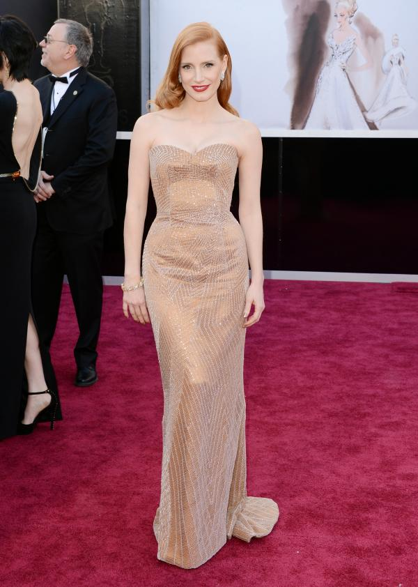 Jessica Chastain, nominated for best actress in <em>Zero Dark Thirty</em>