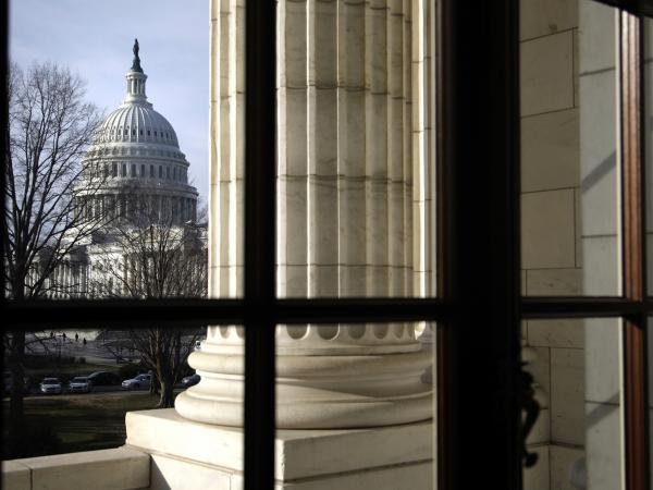 The U.S. Capitol, as seen from the nearby Russell Senate Office Building.