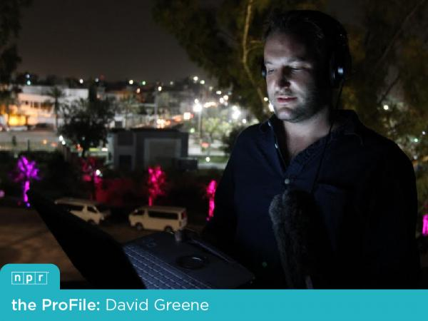 NPR Host and Correspondent David Greene reporting from the roof of a hotel in Tripoli, as NATO bombs were beginning to fall over Libya.