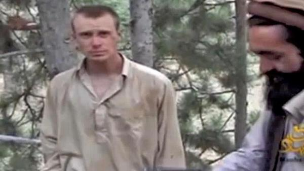 A Taliban video from December 2010 is believed to show captured U.S. soldier Bowe Bergdahl with Mullah Sangeen Zadran. Photo courtesy of IntelCenter