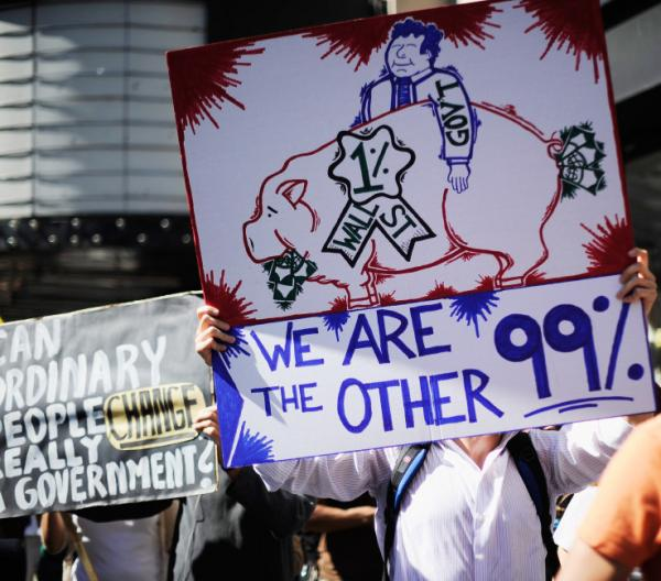 <p>The scene at an Occupy Los Angeles demonstration earlier this month.</p>
