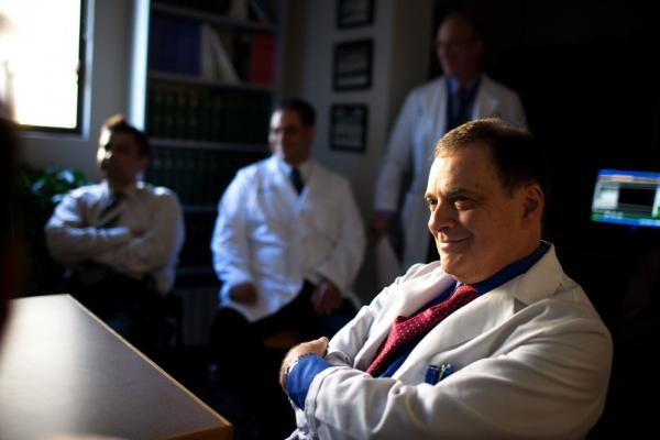 Dr. Simonelli holds a weekly pulmonary conference where he and his colleges discuss particularly challenging cases.