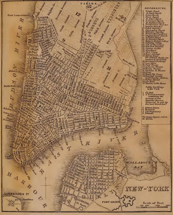 """Bowery Boys"" co-hosts Tom Meyers and Greg Young call themselves ""home-schooled historians,"" and they do extensive research for their show and its related blog. For an episode about Manhattan's grid pattern, they dug up this map from a book published in 1840."