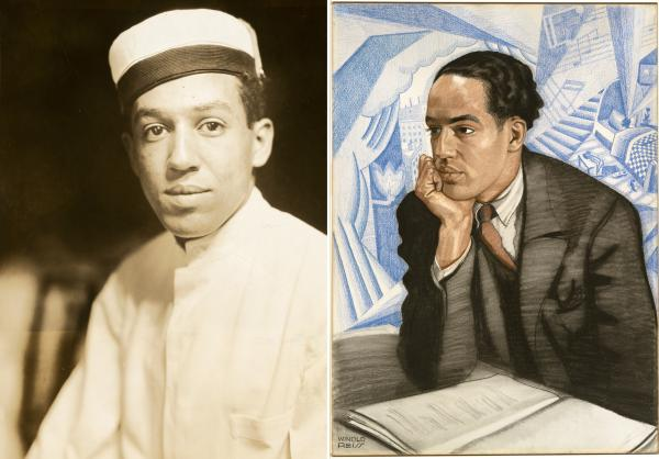 "Langston Hughes' first <a href=""http://media.npr.org/assets/img/2013/02/06/npg_2011_101_hughes_pr_custom.jpg"">publicity photo</a>, taken in 1925, showed him as a bellhop. The same year, German painter Winold Reiss <a href=""http://media.npr.org/assets/img/2013/02/06/hughes_npg_72_82-t_custom.jpg"">depicted</a> a more sophisticated, powerful Hughes."