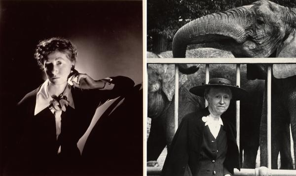 "A 1935 <a href=""http://media.npr.org/assets/img/2013/02/08/undefined_custom.jpg"">photograph</a> of Marianne Moore by George Platt Lynes depicts the young poet as elegant and powerful, while a <a href=""http://media.npr.org/assets/img/2013/02/08/moore2_custom.jpg"">picture</a> taken almost 20 years later by Esther Bubley reflects Moore's intensifying eccentricity."