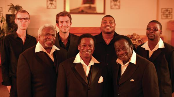 The Relatives teamed with members of members of Black Joe Lewis & the Honeybears to record the new album <em>The Electric Word</em>. Left to right: Matt Strmiska, Earnest Tarkington, Zach Ernst, Rev. Tommie West, Dale Burns, Rev. Gean West, Tyron Edwards.