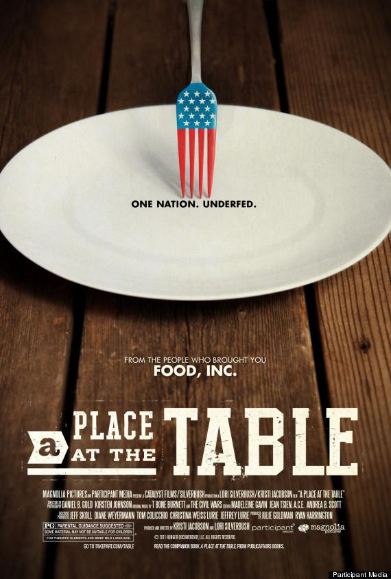 The poster for the documentary <em>A Place At The Table</em>.