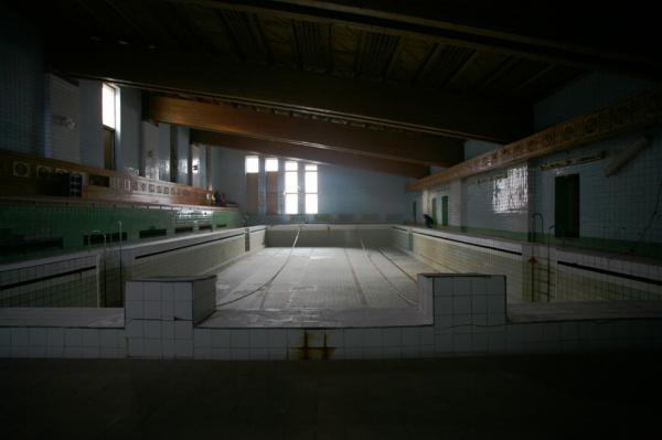 "Now drained, the swimming pool in Piramida was once warmed by residual heat from generating electricity. ""It was fantastic,"" says Hein Bjerck, a former Spitsbergen resident."