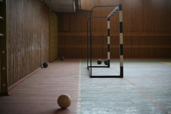 The abandoned gymnasium.