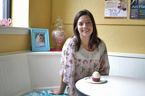 Shawna Leonard owns Sweet B Cupcakes. She catered weddings and parties before opening her storefront. Photo by Jessica Robinson