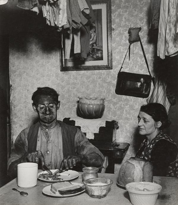 <em>Northumbrian Miner at His Evening Meal,</em> 1937