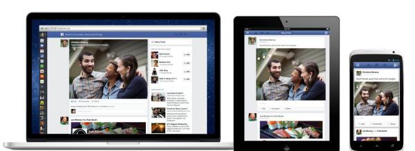 The new look of Facebook's News Feed.