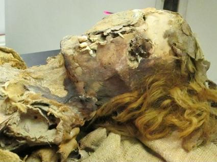 Mummy 38 was between 45 and 50 years old when she died in ancient Egypt. She was excavated from the Fayoum Oasis.