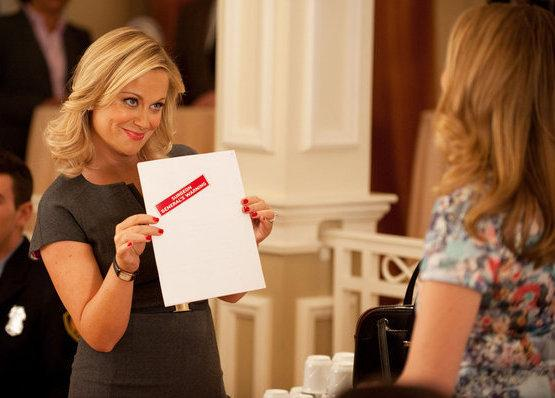 Amy Poehler plays Leslie Knope on NBC's <em>Parks and Recreation.</em>
