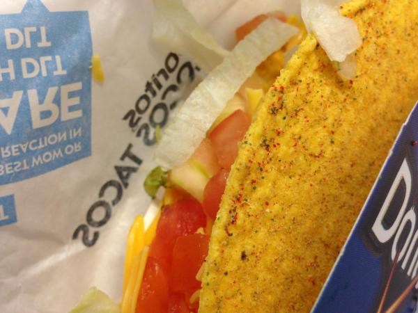 Lean in close enough to see the Cool Ranch dust, but not so close that the taco eats you.