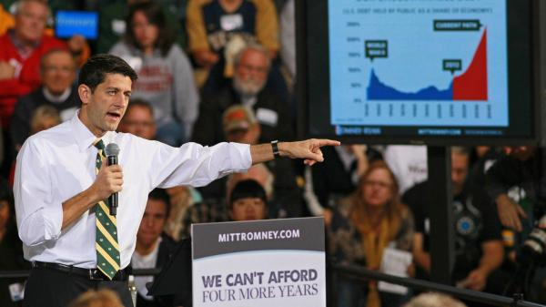 Rep. Paul Ryan, R-Wis., when he was campaigning as the 2012 Republican vice presidential nominee.
