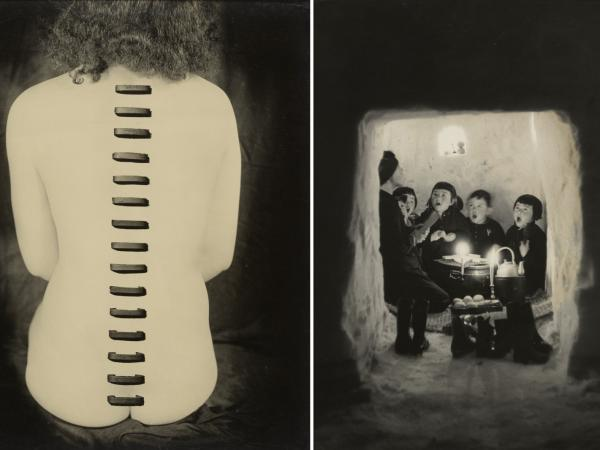 Photos from the upcoming exhibition <em>Japan's Modern Divide, </em>by Kansuke Yamamoto (left) and Hiroshi Hamaya (right)
