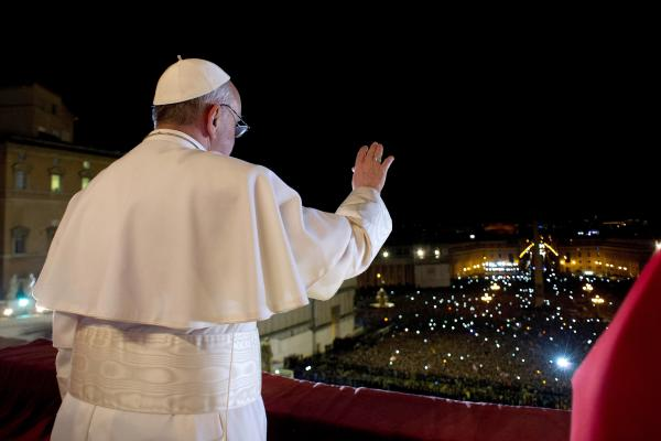 Pope Francis overlooks Vatican City Wednesday. Argentine Cardinal Jorge Mario Bergoglio, 76, was elected as the 266th pontiff and will lead the world's 1.2 billion Catholics.