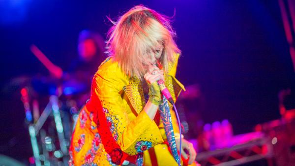Karen O led the Yeah Yeah Yeahs through a set at NPR Music's SXSW showcase at Stubb's in Austin, Texas that included songs from the band's new album, <em>Mosquito</em>.
