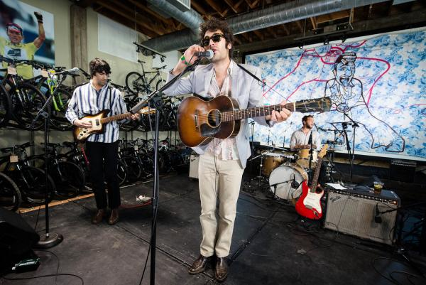 Nice shades, dude. Jangly, organ-driven garage-rockers Allah-Las plays the KEXP showcase at Mellow Johnny's.