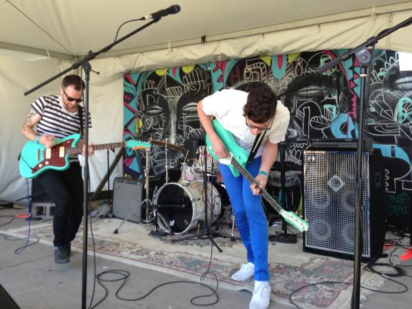 <strong>All Teal Everything:</strong> The Brooklyn band Conveyor play sunny-sounding pop.