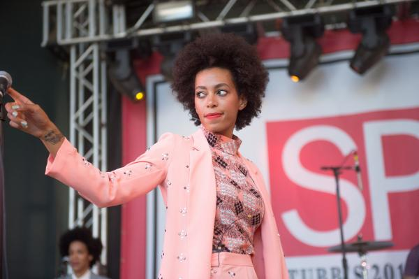 Queen stance: Solange at Stubb's Spin Magazine party.