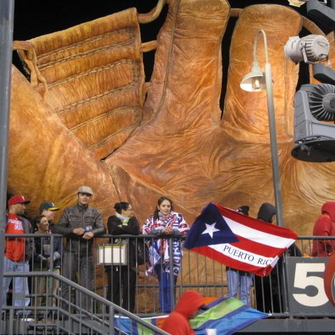 Puerto Rico's colors were flying Sunday night at San Francisco's AT&T Park.