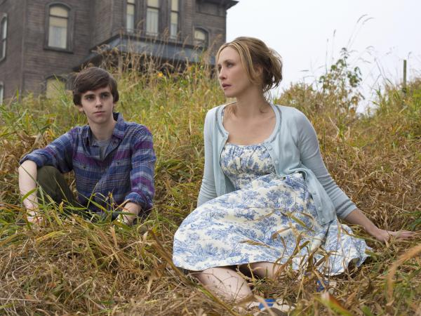 Freddie Highmore and Vera Farmiga are Norman and Norma Bates — <em>eeew</em> — in <em>Bates Motel,</em> the new A&E prequel to Alfred Hitchcock's <em>Psycho.</em>