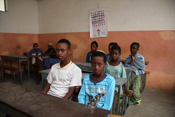 Students at a Jewish school in Gondar, June 2011.