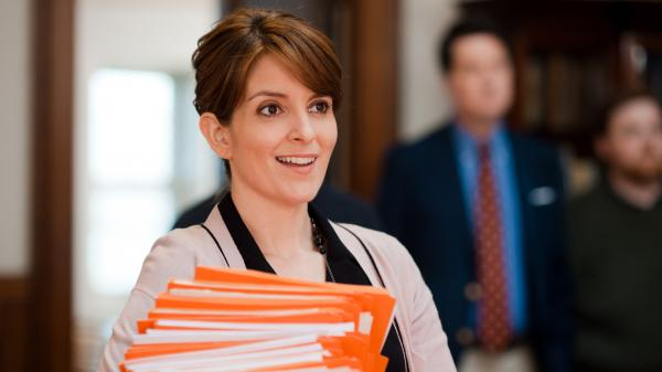 Tina Fey stars as Princeton University admissions counselor Portia Nathan in the new comedy <em>Admission</em>. Fey says the movie's frankly manic depiction of the college application melee appealed to her.