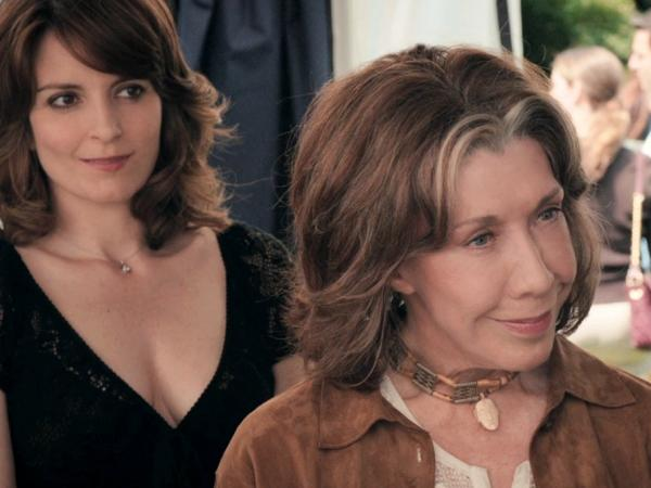 Lily Tomlin plays Susannah, the ardently feminist mother of Fey's character, in <em>Admission</em>.